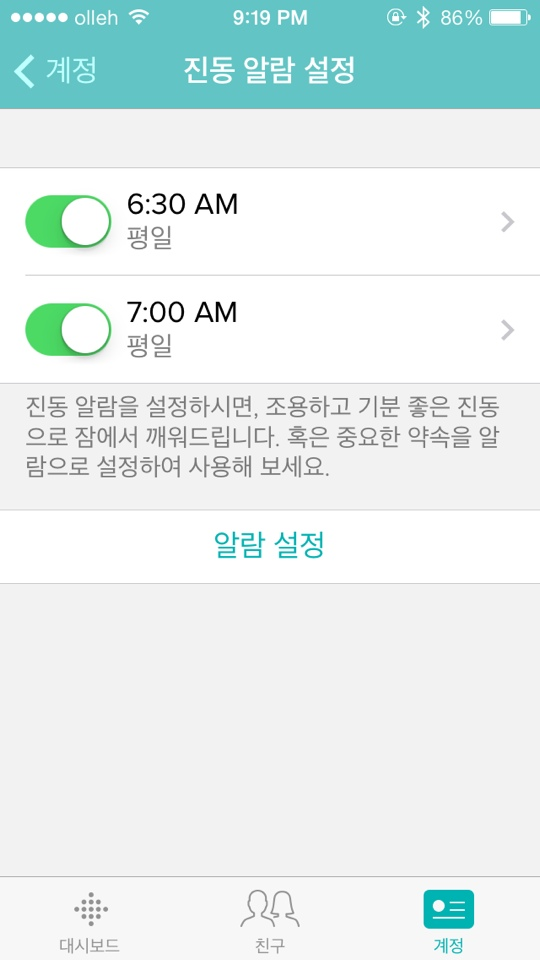 fitbit 알람